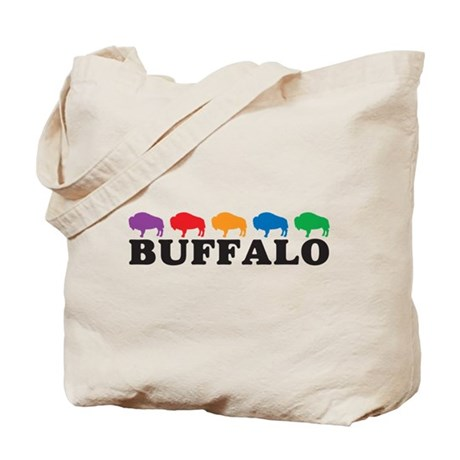 Colorful Buffalo Tote Bag