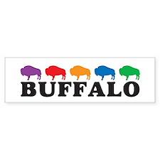 Colorful Buffalo Bumper Bumper Sticker