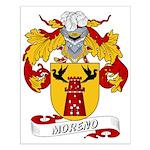 Moreno Family Crest Small Poster