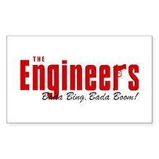 The Engineers Bada Bing Rectangle Decal