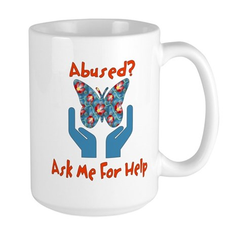 Domestic Violence Help Large Mug