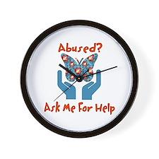 Domestic Violence Help Wall Clock