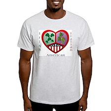 Irish Italian Love Ash Grey T-Shirt