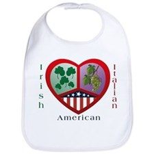 Irish Italian Love Bib