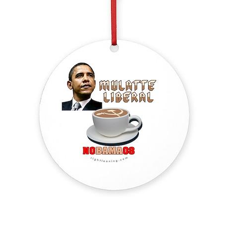 Obama 'Mulatte Liberal' Ornament (Round)