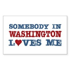 Somebody in Washington Loves Me Decal