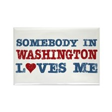 Somebody in Washington Loves Me Rectangle Magnet
