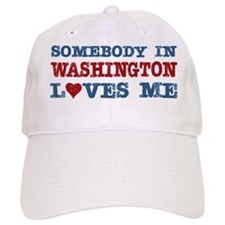 Somebody in Washington Loves Me Baseball Cap
