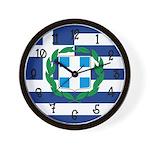 Greek Flag Wall Clock