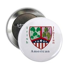 Irish Italian American Button