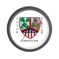 Irish Italian American Wall Clock