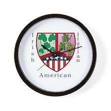 Irish Italian American Wall Clock