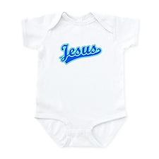 Retro Jesus (Blue) Onesie