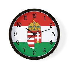 Hungary Flag Wall Clock