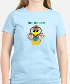 Go Green Earth Day Owl T-Shirt