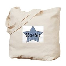 Austin (blue star) Tote Bag
