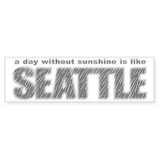 funny Rainy Seattle Weather Bumper Bumper Sticker