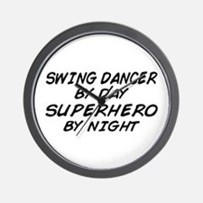 Swing Dancer Superhero by Night Wall Clock