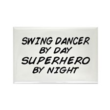 Swing Dancer Superhero by Night Rectangle Magnet