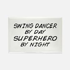 Swing Dancer Superhero by Night Rectangle Magnet