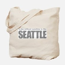 funny Rainy Seattle Weather Tote Bag