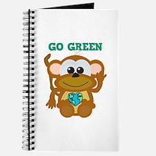 Go Green Earth Day Monkey Journal