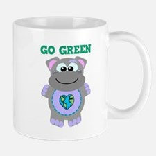 Go Green Earth Day Hippo Mug