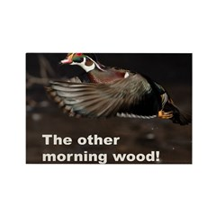 Morning Wood Rectangle Magnet (10 pack)