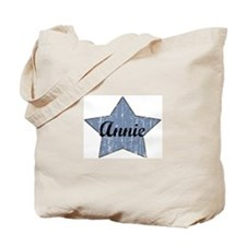 Annie (blue star) Tote Bag