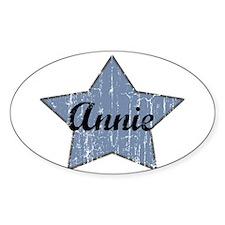 Annie (blue star) Oval Decal