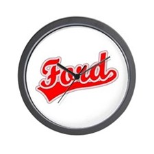 Retro Ford (Red) Wall Clock
