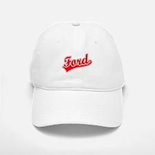 Retro Ford (Red) Baseball Baseball Cap