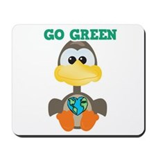 Go Green Earth Day Goose Mousepad