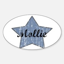 Mollie (blue star) Oval Decal