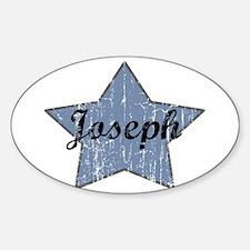 Joseph (blue star) Oval Decal