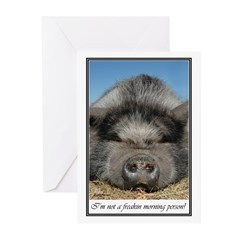 Not A Morning Person Greeting Cards (Pk of 20)