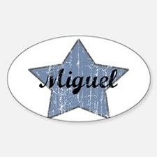 Miguel (blue star) Oval Decal