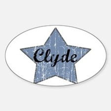 Clyde (blue star) Oval Decal