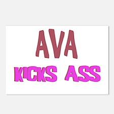 Ava Kicks Ass Postcards (Package of 8)