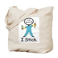 Stick Figure Phlebotomist Tote Bag