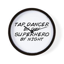 Tap Dancer Superhero by Night Wall Clock
