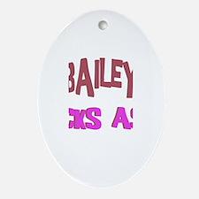 Bailey Kicks Ass Oval Ornament