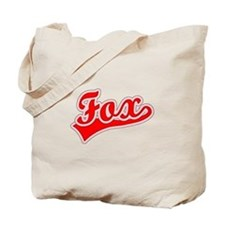 Retro Fox (Red) Tote Bag