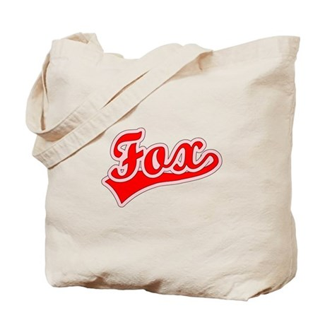 Retro Fox (Red) Tote Bag