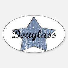 Douglass (blue star) Oval Decal