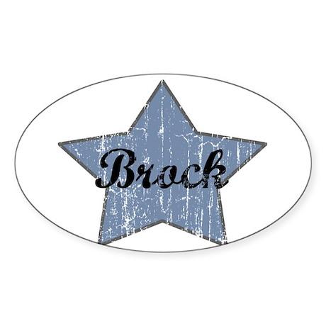 Brock (blue star) Oval Sticker