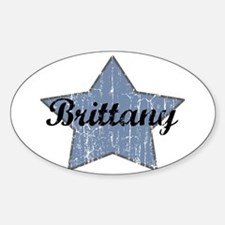 Brittany (blue star) Oval Bumper Stickers