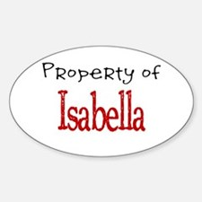 Isabella Oval Decal