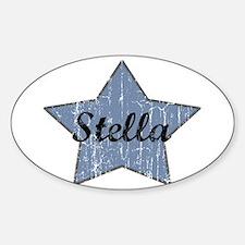 Stella (blue star) Oval Decal