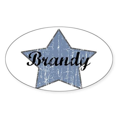 Brandy (blue star) Oval Sticker